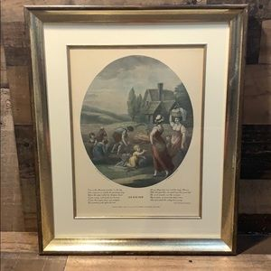 Vintage August Hand Tinted W Hamilton Framed Print